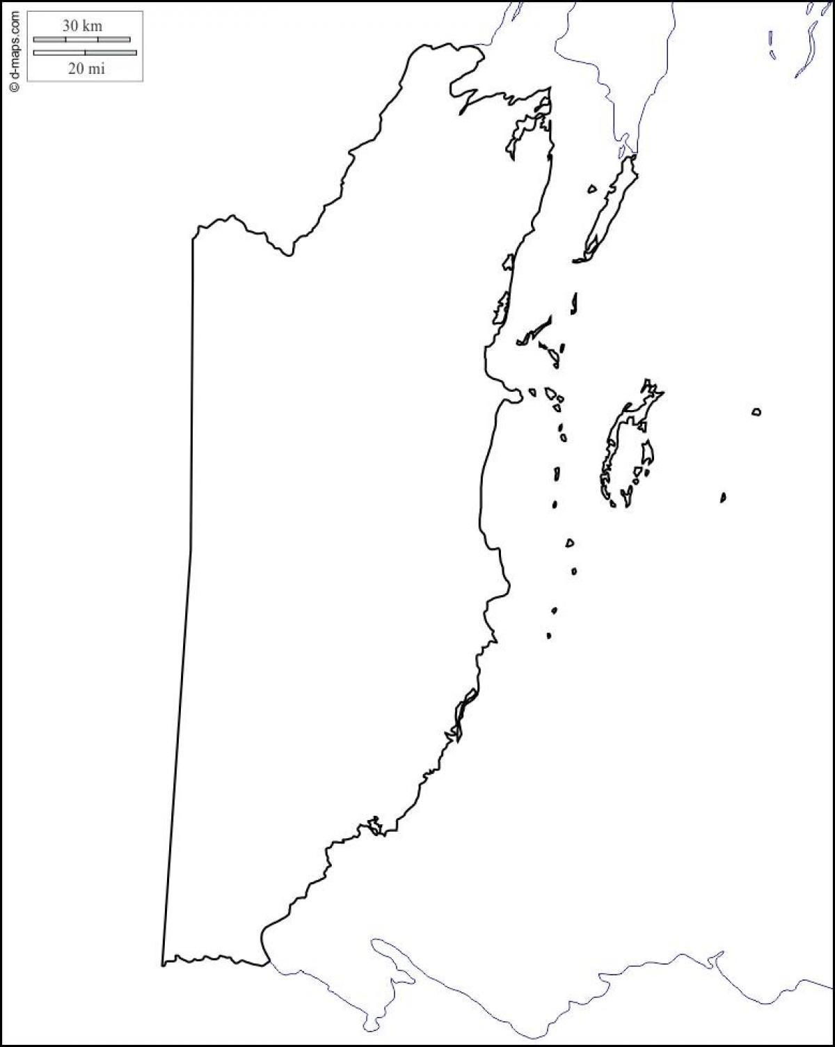 Belize Kort Skitse Kort Over Belize Skitse Central Amerika